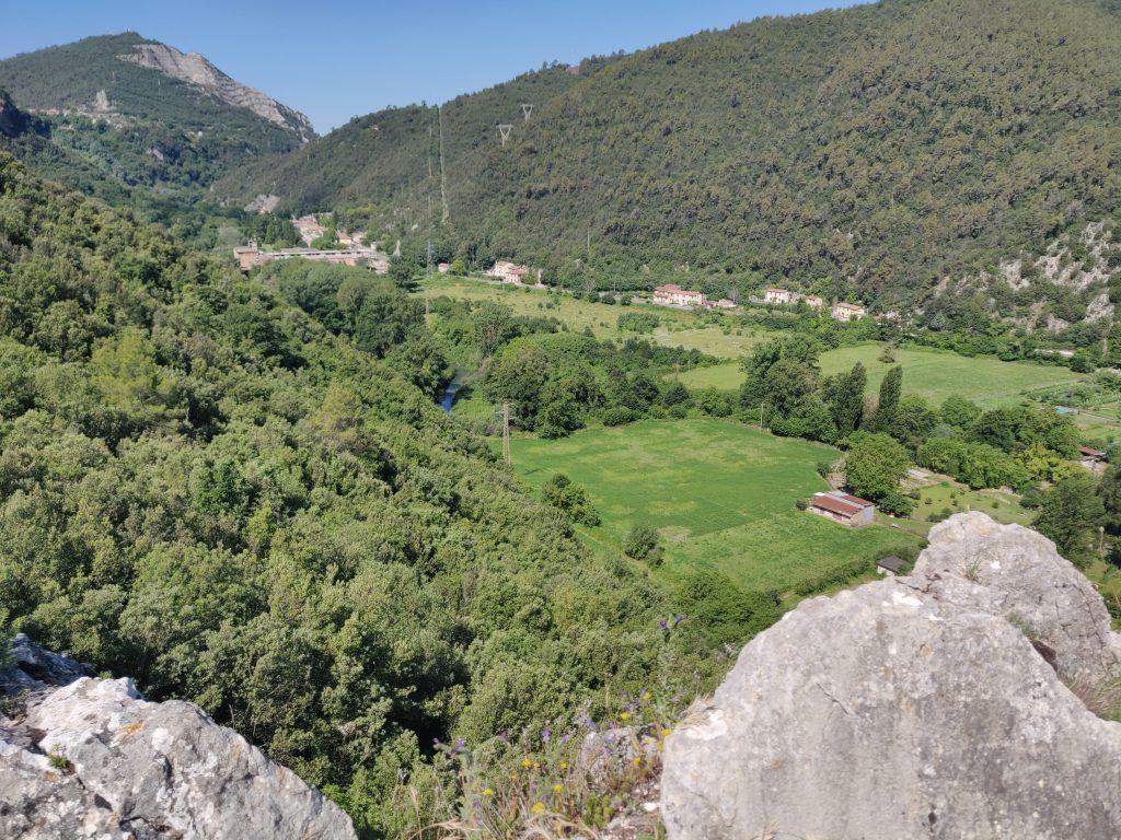 Rocca Accarina, vista dallo sperone della torre verso Terni